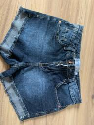 shorts jeans escuro 34 (34 grandinho)