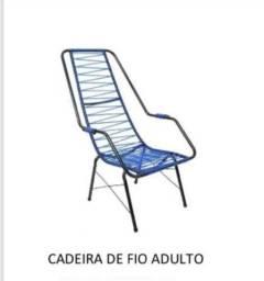 Cadeira. De fio cadeira de fio cadeira de fio