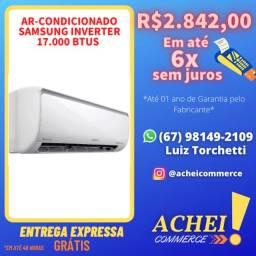 Título do anúncio: Ar Condicionado Split - 17000 BTUs_Samsung Inverter_Branco_Novo_Garantia_Pronta Entrega_NF