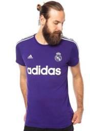 Título do anúncio: Camiseta Adidas Real Madrid Retrô Roxa Original e Nova