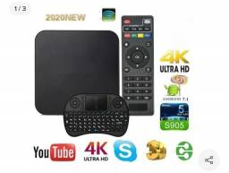 Título do anúncio: Kit Tv Box Mx 15gb Ram 128gb + Mini Teclado Wireless