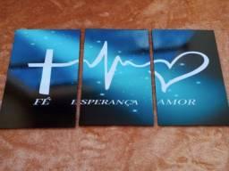 Quadro Decorativo Fé Esperança Amor