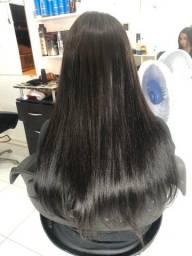 6 telas de mega hair humano com 180 gramas 65 centímetros