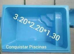 Piscina 320x220x130 instalada
