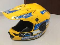 Capacete para moto  off road Pro Tork  Liberty MX Pro  amarelo solid tamanho 58