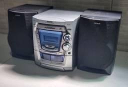 Som Panasonic com caixas Sony 200 rms