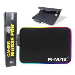 Título do anúncio: Mouse Pad Gamer USB Com Leds Rgb 7 Cores Antiderrapante B-Max