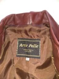 Jaqueta de couro  legítimo tamanho G
