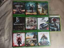 Jogos de Xbox One (preços na descrição)