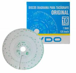 Disco Diagrama Tacógrafo Semanal 125Km    VDO   Ref: 14025005F