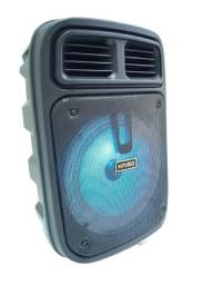 Caixa de som bluetooth com microfone rádio para karaoke
