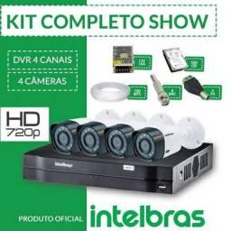 Título do anúncio: Kit com 4 cameras intelbras