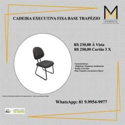 Título do anúncio: Cadeira Fixa Executiva - Base Trapézio