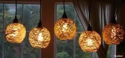 Luminárias rusticas