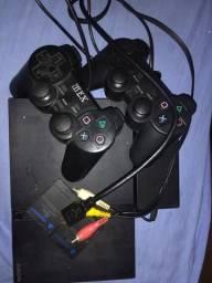 Vende-se PS2 2 controle 2 memory card 8gb