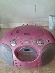 Som portátil Philco mp3 com USB, Rádio AM FM