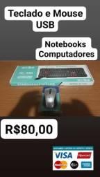 Teclado e Mouse usb pra Conputadores
