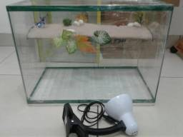 Aquario com lampada