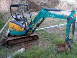 Mini Escavadeira Kubota U30 perfeito estado revisada n caterpillar newholland case bobcat