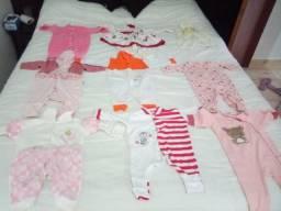 Lote roupas bebê menina