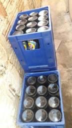 Caixa e casco cerveja litrão