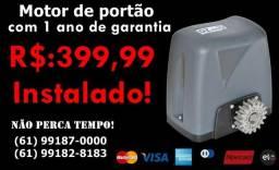 Motor para portão eletrônico R$: 399,99 instalado