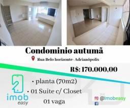Condominio Autumã 1 Suite com closet