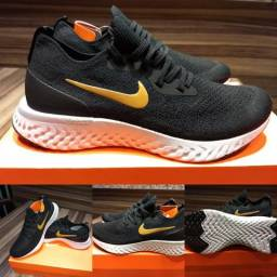 a360f8004a2 Tênis Nike Epic React Flyknit - Black Gold