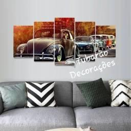 Quadro Mosaico 130x60 05 Peças Carros