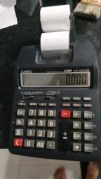 Calculadora casio com bobina de papel