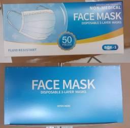 Máscara Descartável Tripla camada cirúrgica