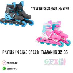 Patins in line c/ led