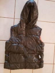 Jaqueta de plumas de ganso sem mangas importada unissex