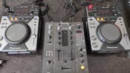 Setup CDJ 400 DJM 400 PIONEER mixer