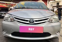 Toyota etios 2016 ent+parc fixas r$ 749 comoleto