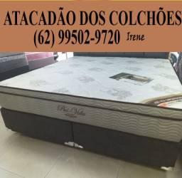Conjunto Cama Box + Colchão Queen Size Pro Vida Ortobom, *