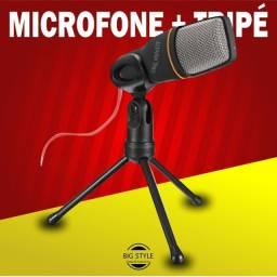 Microfone Condensador de Mesa + Tripé Gratis Sf666 Omidirecional Original Ultimas peças