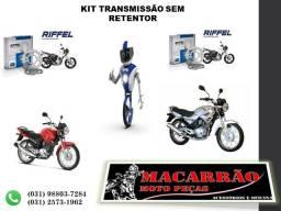 Kit Transmissão Riffel Moto Ybr 125 03/08 E Ybr Factor 03/16