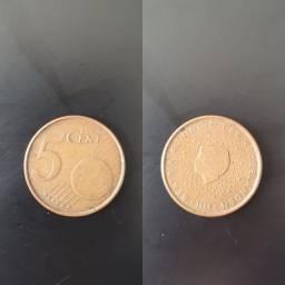 Título do anúncio: Moeda 5 Cent Euro 1999