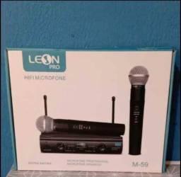 Título do anúncio: Microfones sem fio Leon M-59