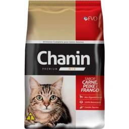 Título do anúncio: Ração para Gatos Premium Chanin Mix Sabor Peixe, Carne e Frango 10,1KG