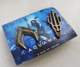 Pin Bottom Broche Raro Aquaman Colecionável Dc Comics Cinemark