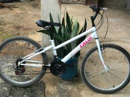 Vendo Bicicleta Aro 24 Caloi Ceci Juvenil 21 Marchas - Branca.