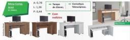 Mesas de escritório promoção faço entrega e montagem grátis Goiânia