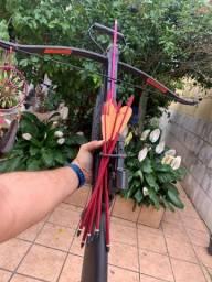Título do anúncio: Cross bow Balestra  arco e flecha 150 lbs