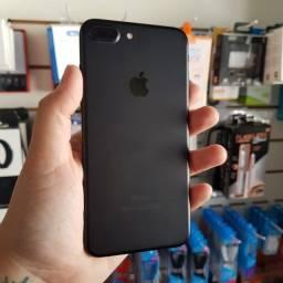 Título do anúncio: IPhone 7 Plus Black Matte 128GB + ICloud liberado + Biometria OK + AirPods Pro ?