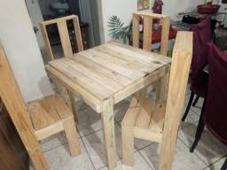 Mesa nova em palete
