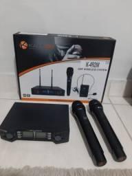 Título do anúncio: Microfone sem fio duplo k492m kadosh