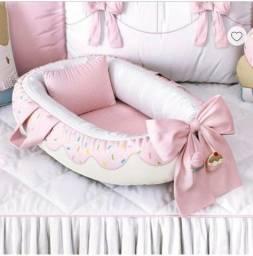 Ninho para Bebê Redutor de Berço Donut Doce Encanto 80cm<br><br>