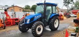 Título do anúncio: Trator Agrícola NH New Holland TL75E Cabine Original, Ano 2015, 5900 horas, Único Dono.